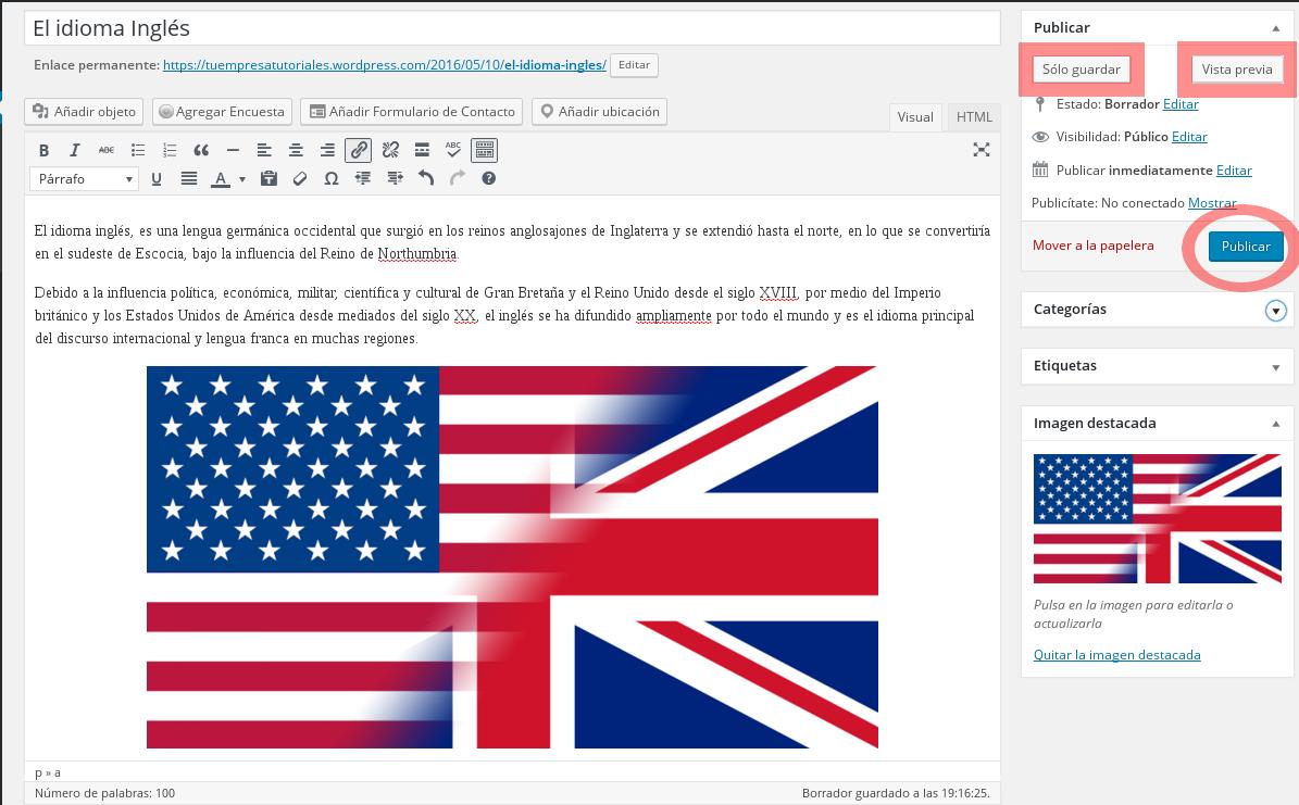 Cómo publicar un nuevo post en Wordpress