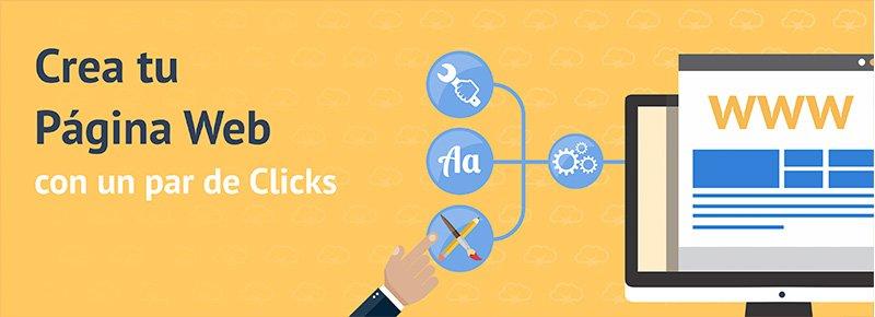 Crea tu Sitio Web Fácil con un par de Clicks!