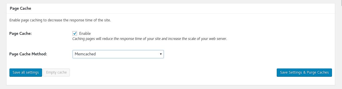 Configuración de Page Cache en Woocommerce usando el plugin W3 Total Cache