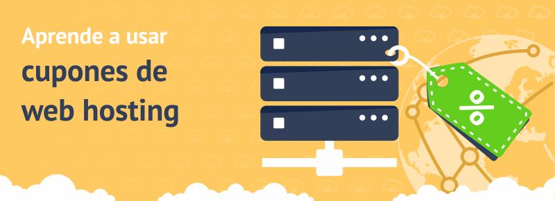 Aprende a usar cupones de web hosting