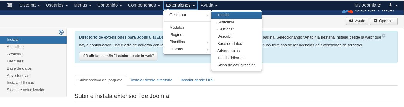 Instalación de Speed Cache en Joomla