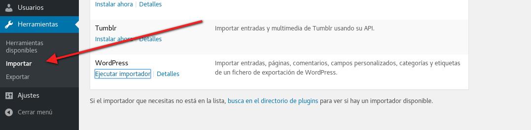 Importar XML en WordPress