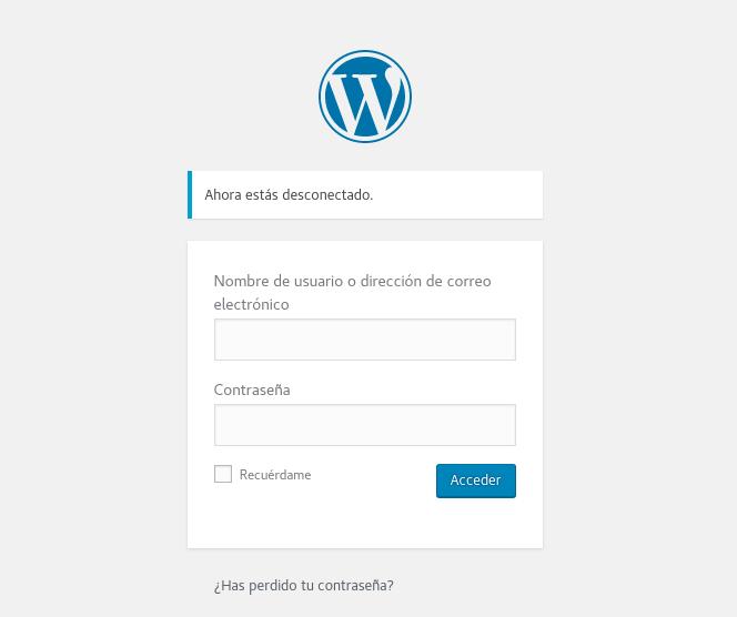 Ingresar al WordPress de nuestro servidor