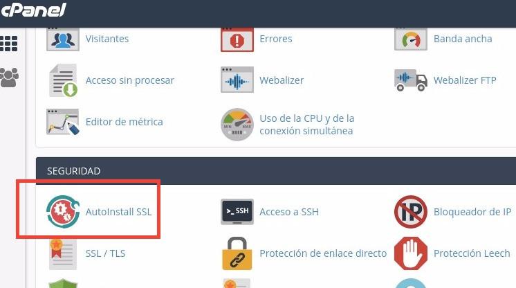 Cómo instalar un certificado SSL en cPanel con AutoInstall