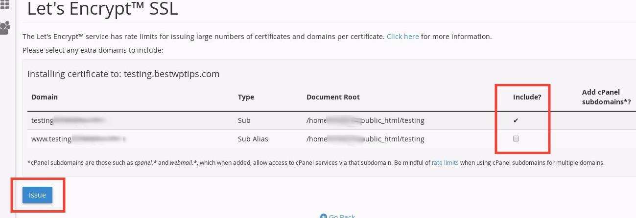 Como instalar un certificado SSL de Lets Encrypt en cPanel
