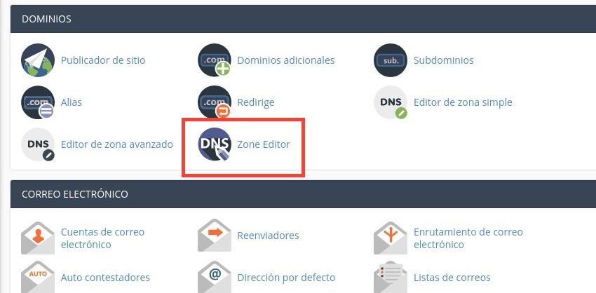 cPanel Editor DNS