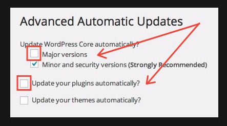 advanced automatic updates