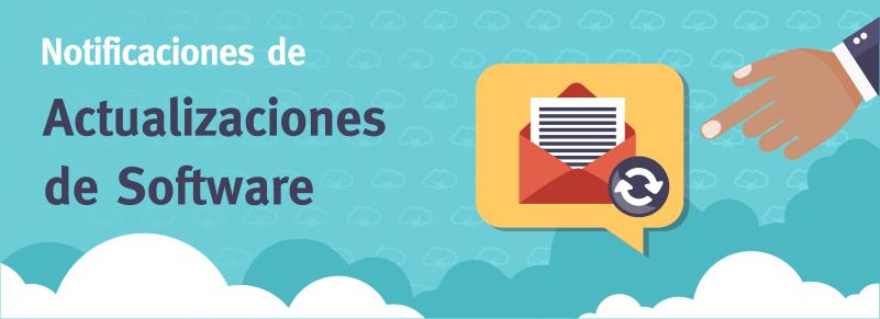 Notificaciones sobre Actualizaciones en tus aplicaciones web y sus componentes