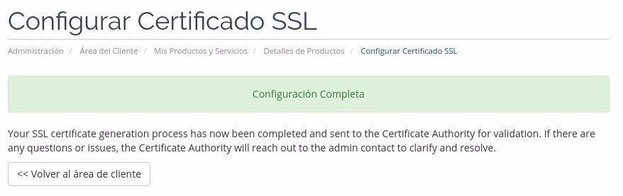 SSL listo