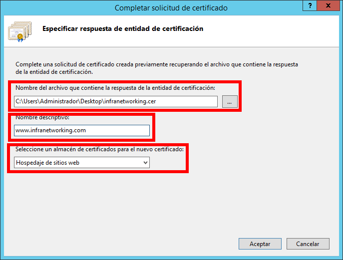 Instalar codigo CRT en Windows Server 2016