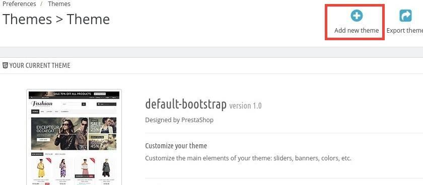 Cómo instalar themes plantillas en PrestaShop