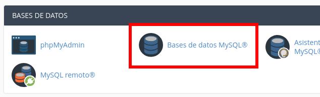 Crear usuario y contraseña para restaurar base de datos cpanel