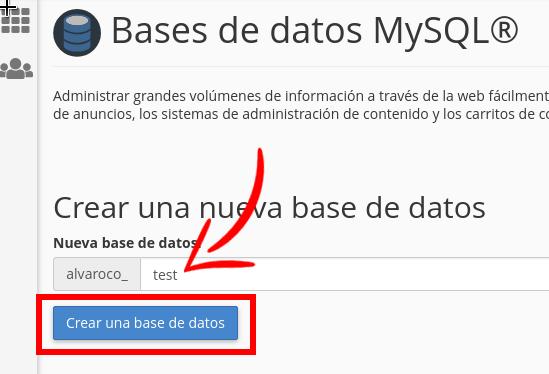 Como crear una Base de Datos en cPanel