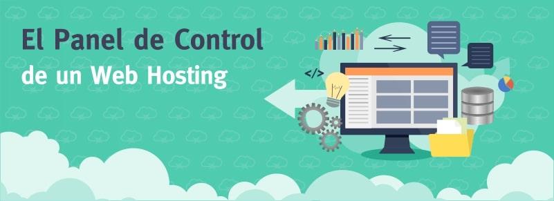 El panel de control en un web Hosting