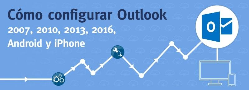 Configurar cuenta de Correo en Outlook (2007, 2010, 2013, 2016, Android, iPhone)