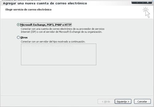 configurar cuenta pop3 imap outlook 2007