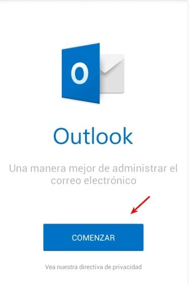 configurar outlook en Android