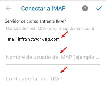 servidor correo entrante imap outlook android
