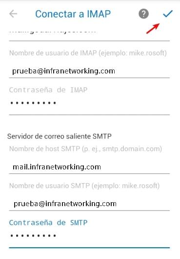 configurar servidor correo android outlook