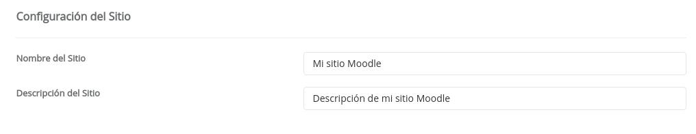 Configuracion de Moodle