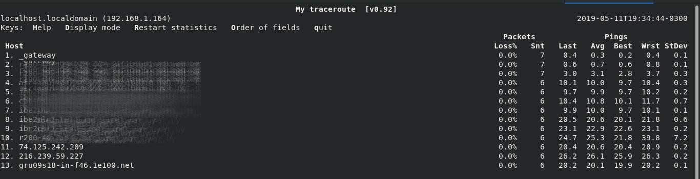 MTR en Linux
