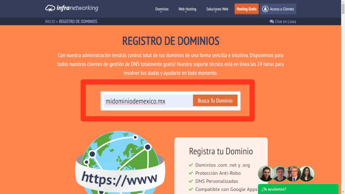 registrar dominios méxico