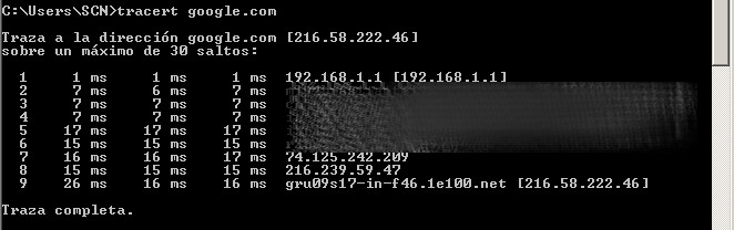 Tracert en Windows