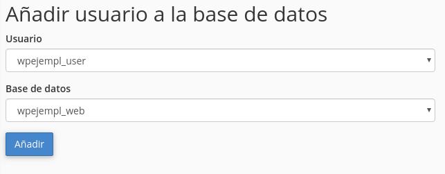 Añadir usuario a base de datos