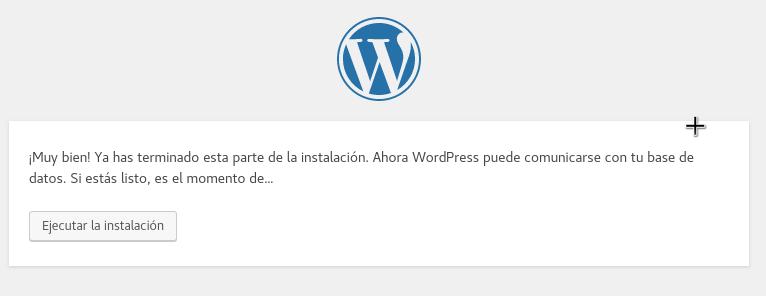 Ejecutar la instalación de WordPress