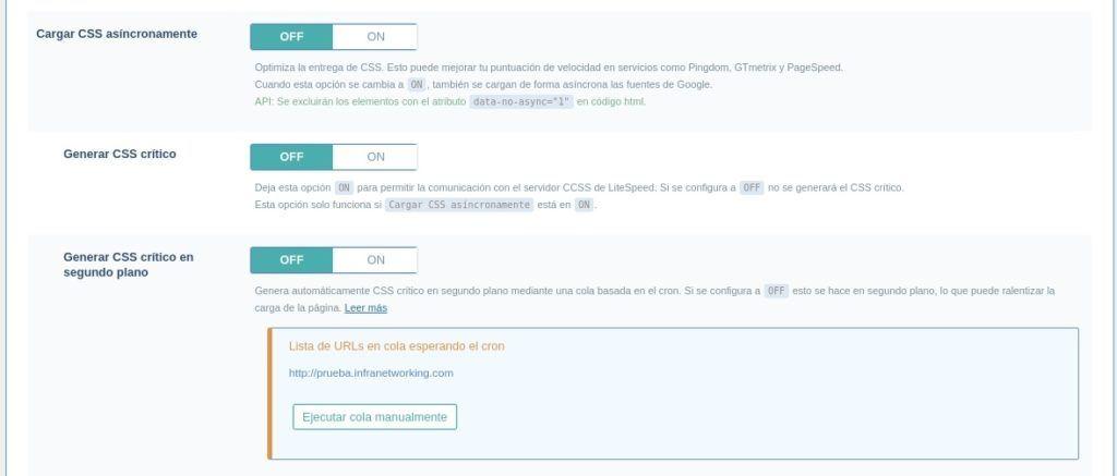 Cargar CSS asicrono con LiteSpeed Cache