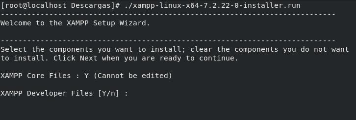 Instalación de XAMPP en Linux 02