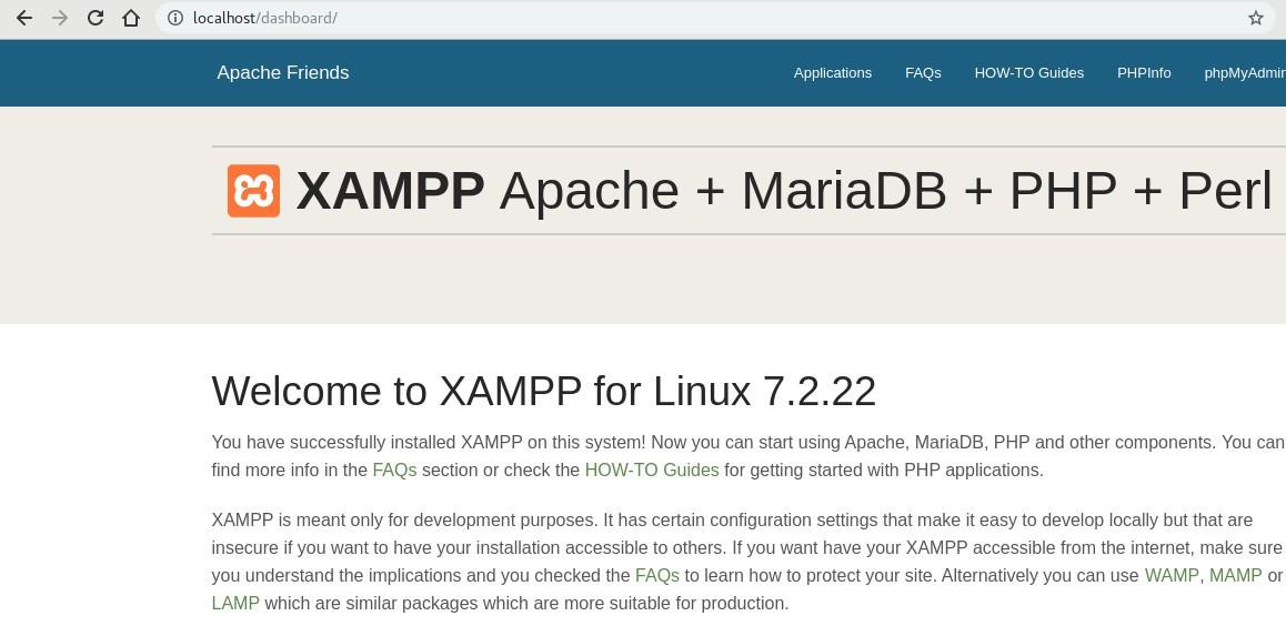 Servidor local con XAMPP y Apache + MariaDB y PHP en Linux