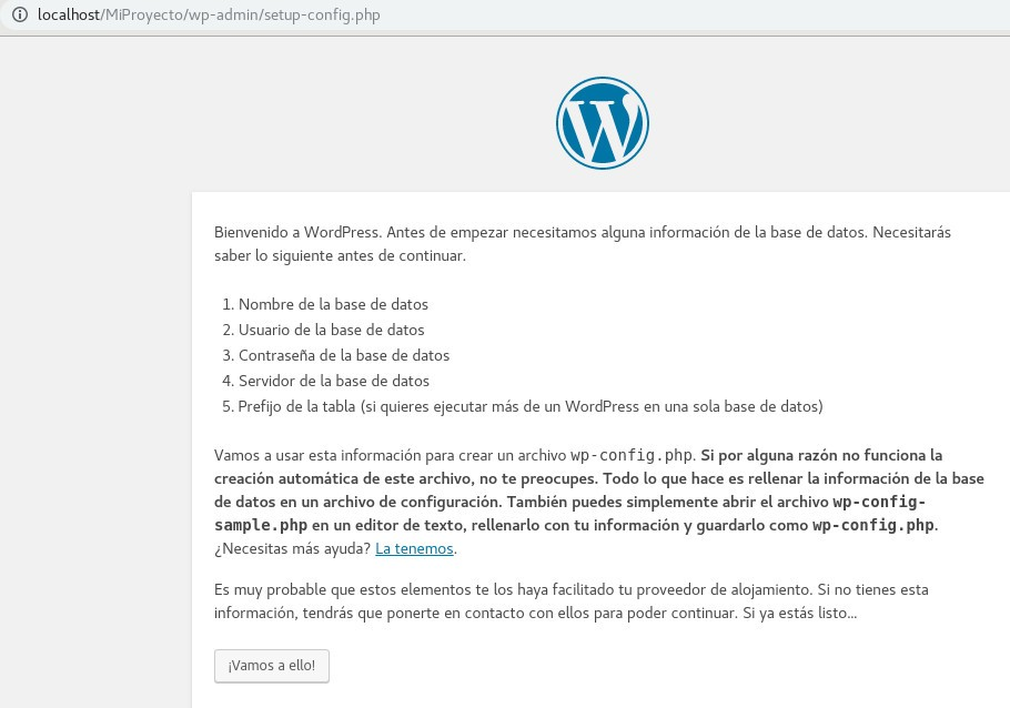 Instalador de WordPress
