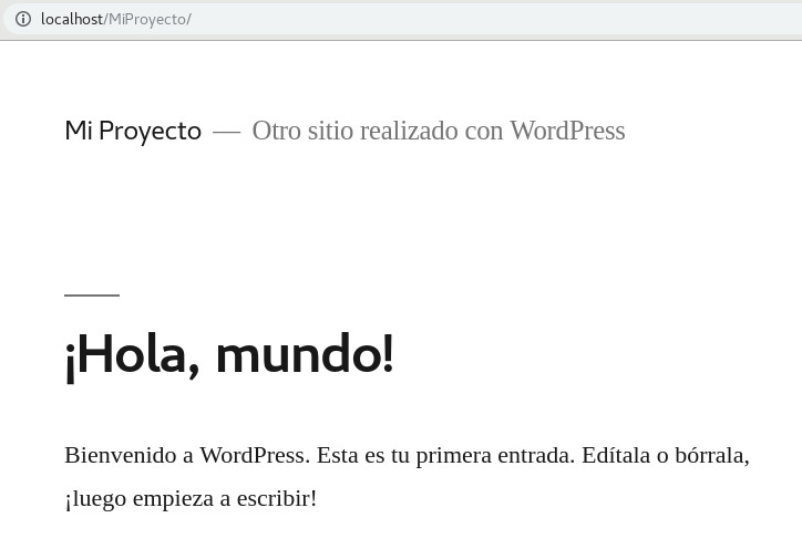Hola Mundo en WordPress