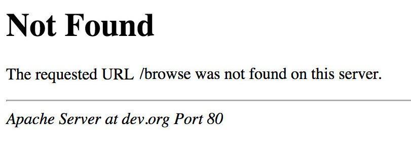 El clásico error 404 - not found