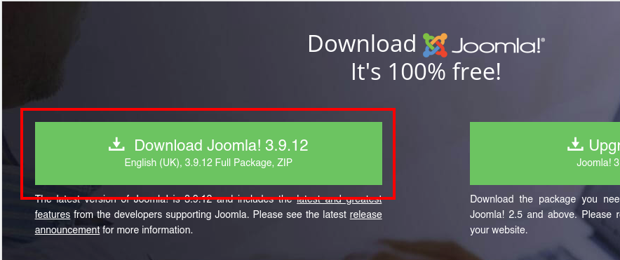 Descarga de Joomla
