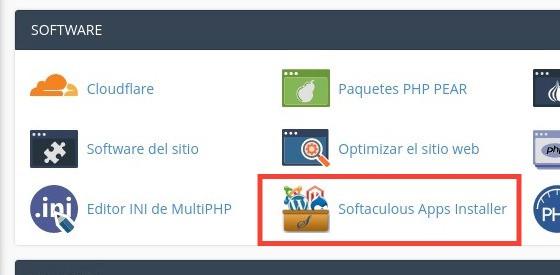 Instalar Drupal con Softaculous