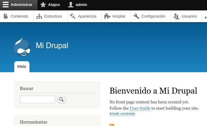 Bienvenido a Drupal