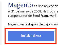Instalar Magento con Softaculous, paso final