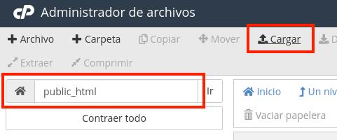 Admin archivos cPanel public html