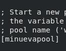 Servidor PHP-FPM - Configuración de nombre de pool
