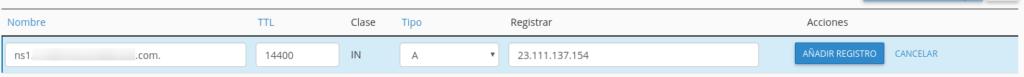 Crear registros DNS en cPanel
