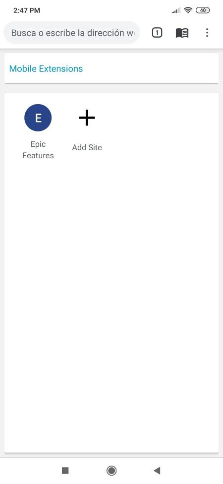 Navegador anónimo Epic en Android