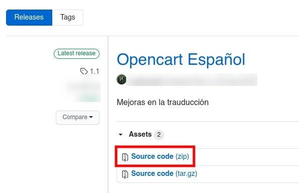 Descarga idioma  Español OpenCart