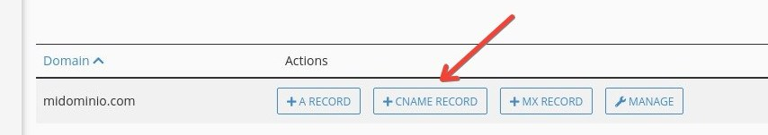 Cómo configurar DNS de Zoho en cPanel: CNAME