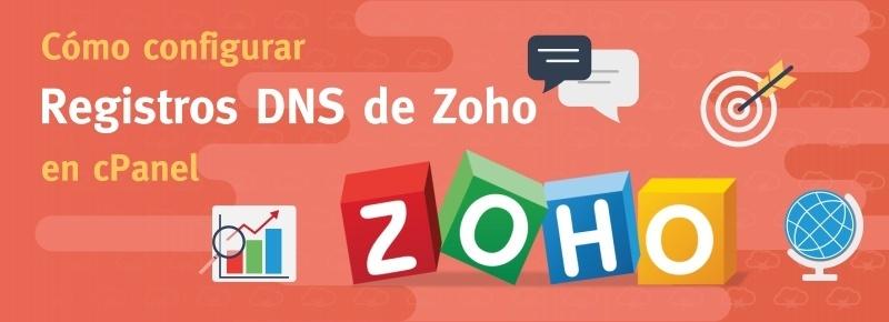Cómo configurar registros DNS de Zoho en cPanel
