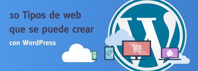 10 tipos de web que se puede crear con WordPress