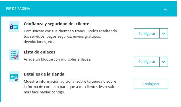 Personalizar pie de pagina Prestashop Plantilla