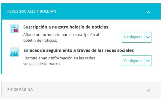 Configurar Redes Sociales y Boletín en Plantilla Prestashop